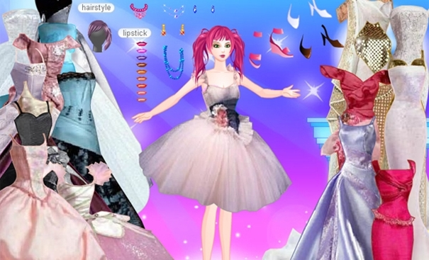 Juegos de vestir: Princesa Barbie Dress up
